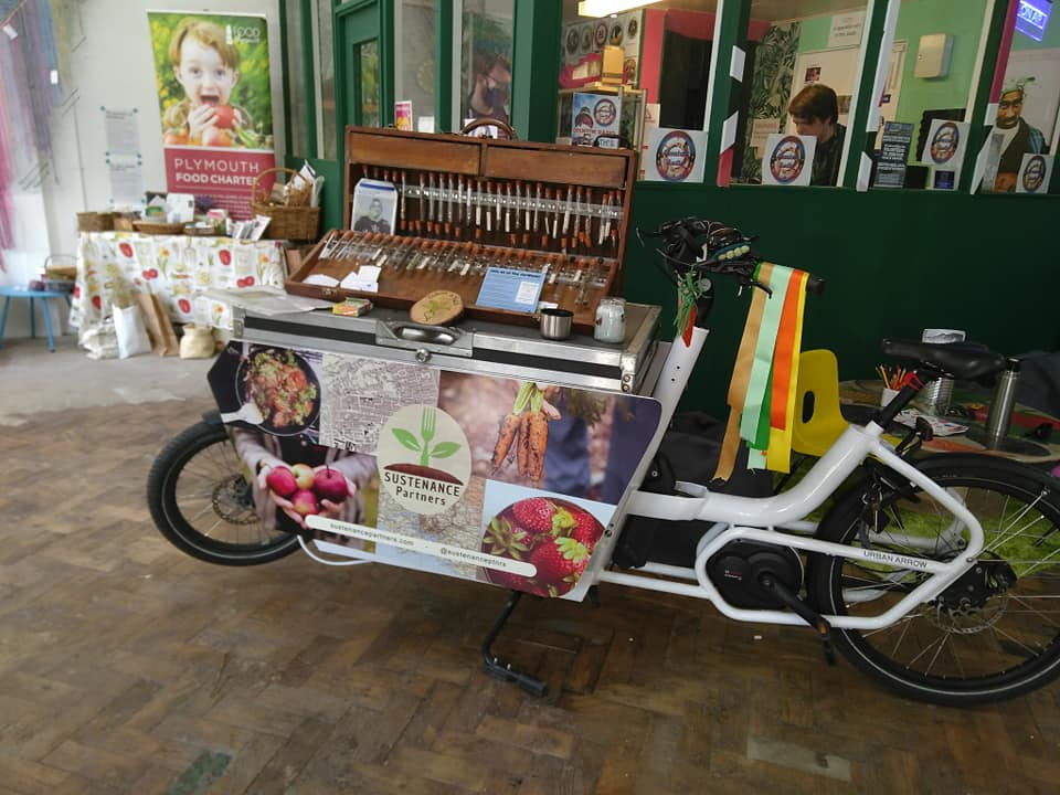 Sustenance cargo bike with mobile seed bank